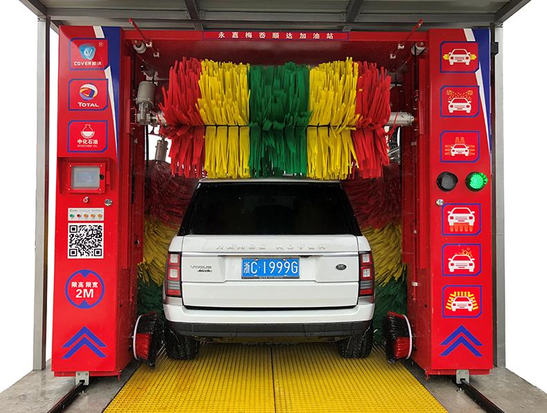 龙门往复式洗车机的结构特点