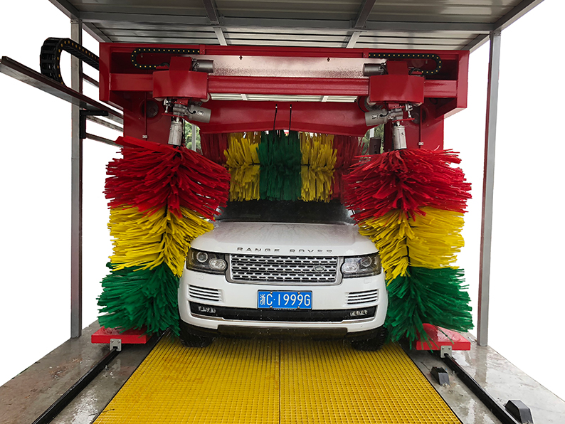 往复式洗车机是怎么洗车的?